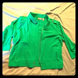 Green Chicos Moto Jacket